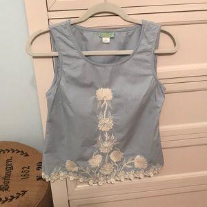 Anthropologie sleeveless cotton blouse
